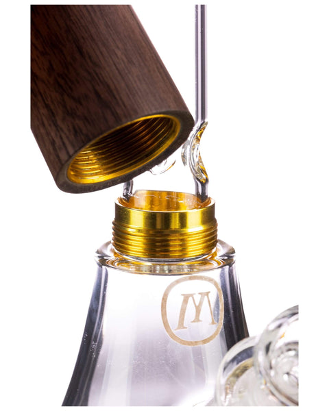 Marley Natural - Wood Accented Glass Beaker Water Pipe - Default Title - 6