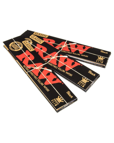 3 Pack of Raw Black Papers