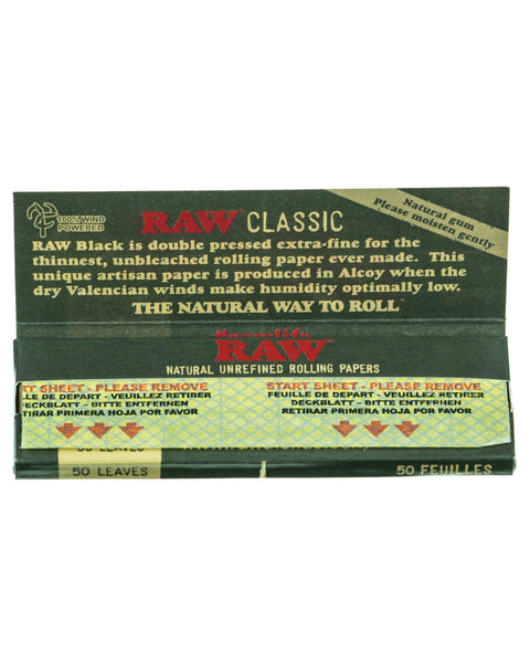 RAW - Black Papers - Single Pack - 6