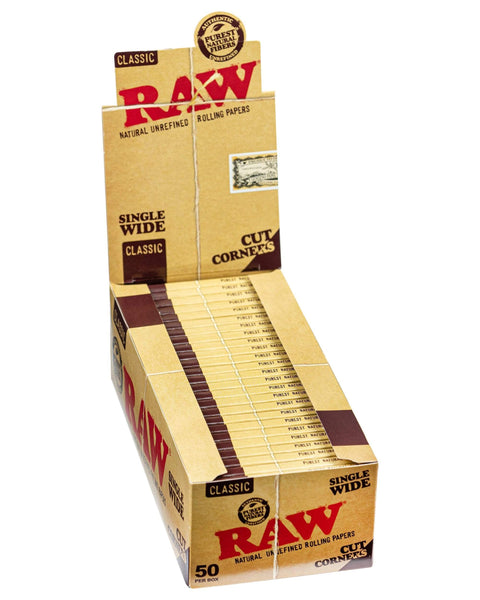 RAW - Classic Cut Corner Rolling Papers - Single Pack - 2