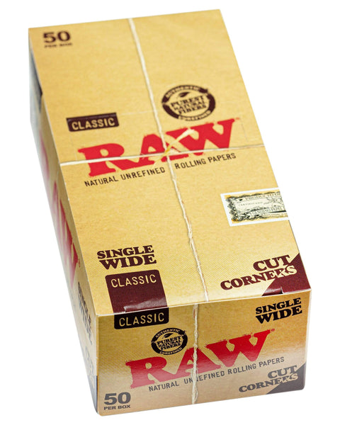 RAW - Classic Cut Corner Rolling Papers - Single Pack - 1