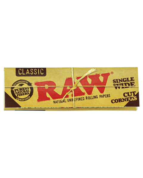 RAW - Classic Cut Corner Rolling Papers - Single Pack - 0