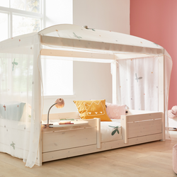 4-in-1 bed with canopy frame