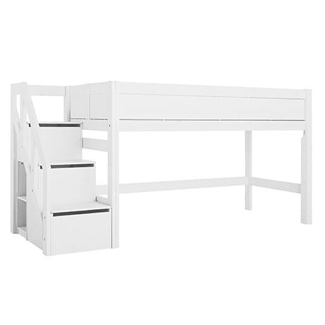 Semi-high bed with stepladder
