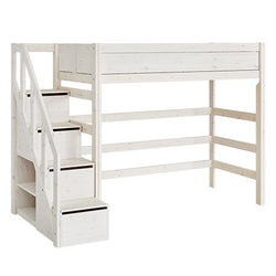 High bed with stepladder