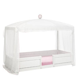 White canopy for 4-in-1 bed