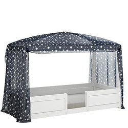 Blue stars canopy for 4-in-1 bed