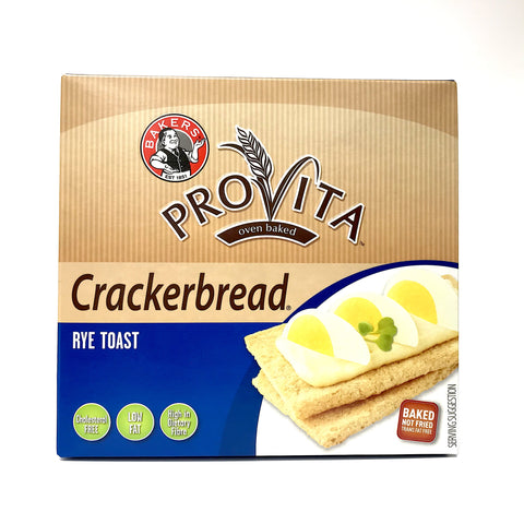 Bakers Provita Oven Baked Crackerbread - Rye Toast