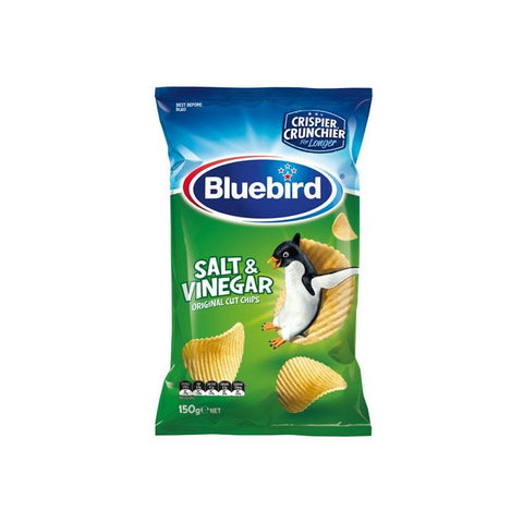 Bluebird Original Potato Chips Salt & Vinegar Flavour 150g