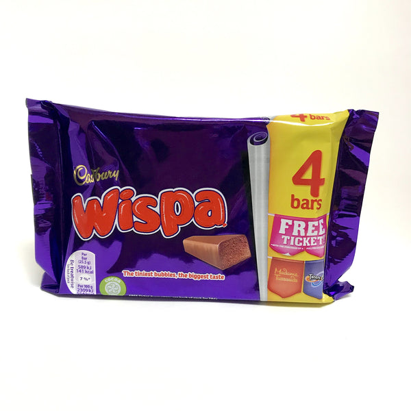 Cadbury Wispa Chocolate bar - 4 pack