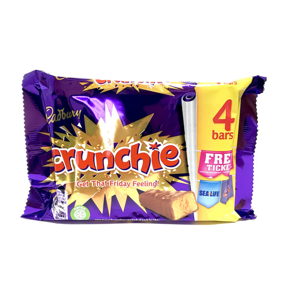 Cadbury Crunchie Chocolate Bar - 4 pack