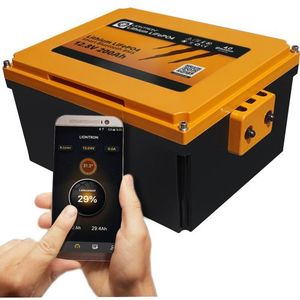Batteries lithium LIONTRON LiFePO4 12,8V 200Ah Batterie sous le siège du camping-car LX Smart BMS avec Bluetooth