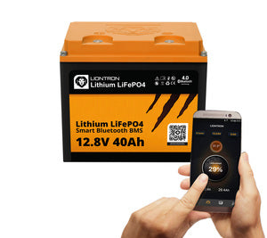 Batteries lithium LIONTRON LiFePO4 12,8V 40Ah LX Smart BMS avec Bluetooth