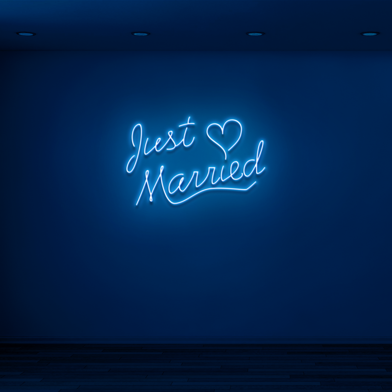 'JUST MARRIED' Neon Sign