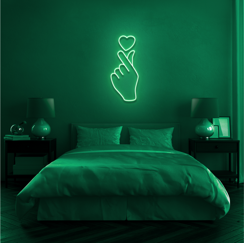 'LOVE AT YOUR FINGERTIPS' Neon Sign