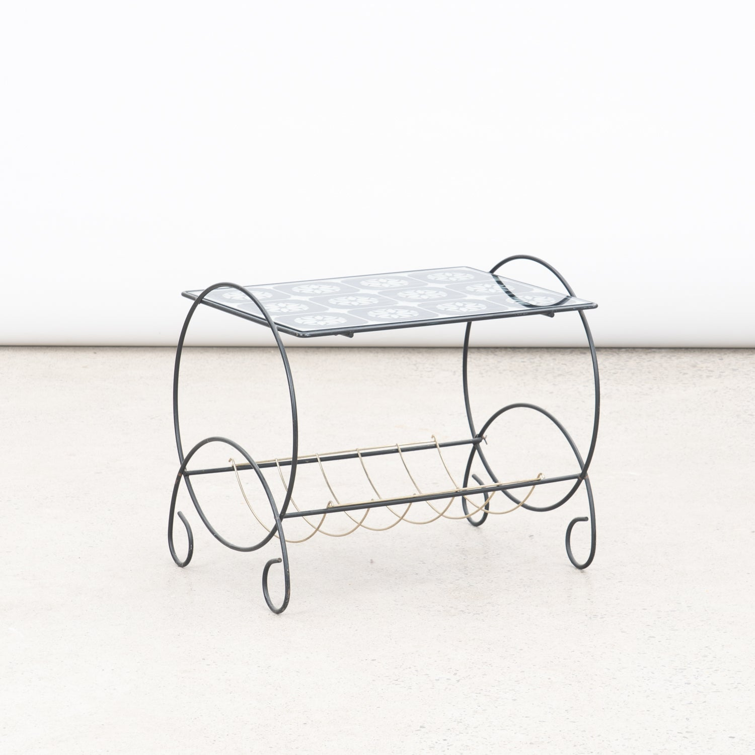 Mirror & Metal Side Table