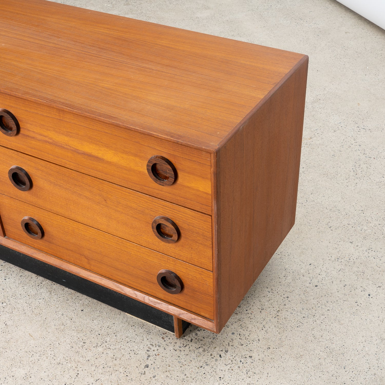 Teak and Rosewood 9-Drawer Dresser