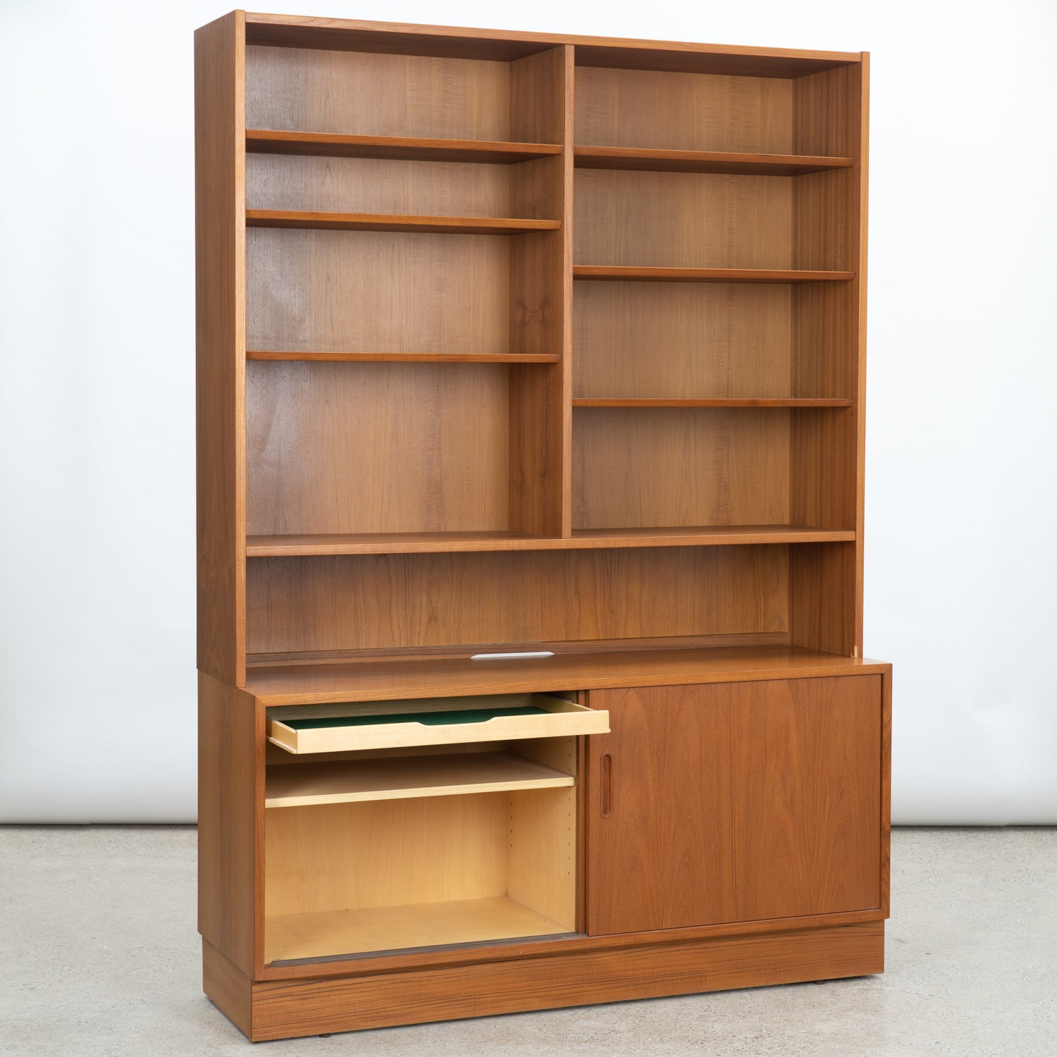 Large Teak Bookcase by Poul Hundevad