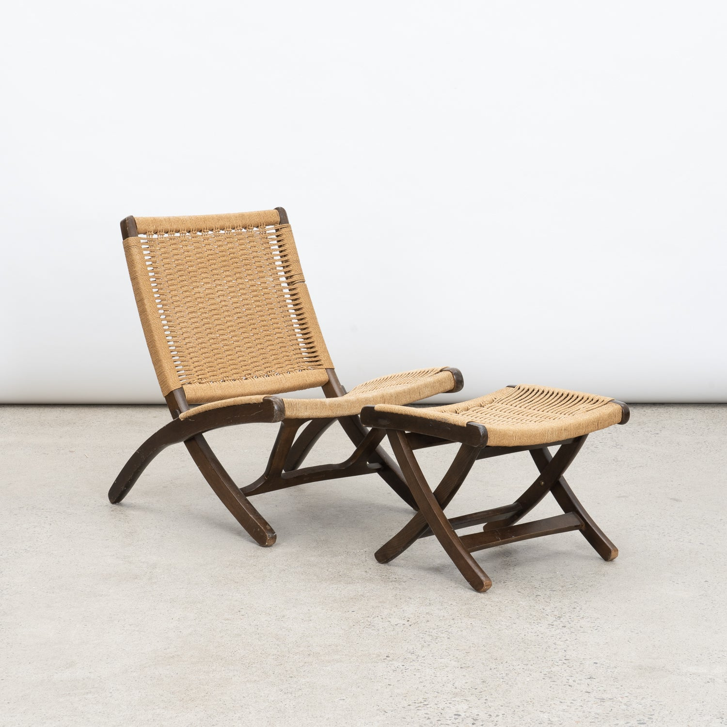 Folding Woven Lounge Chairs