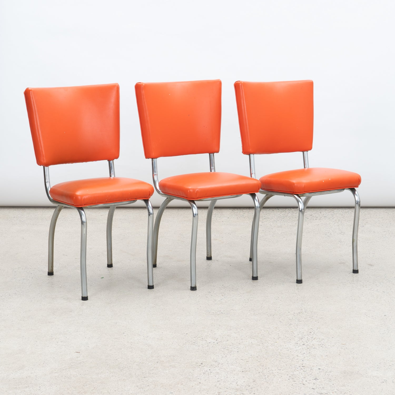 1950s Chrome & Vinyl Chairs
