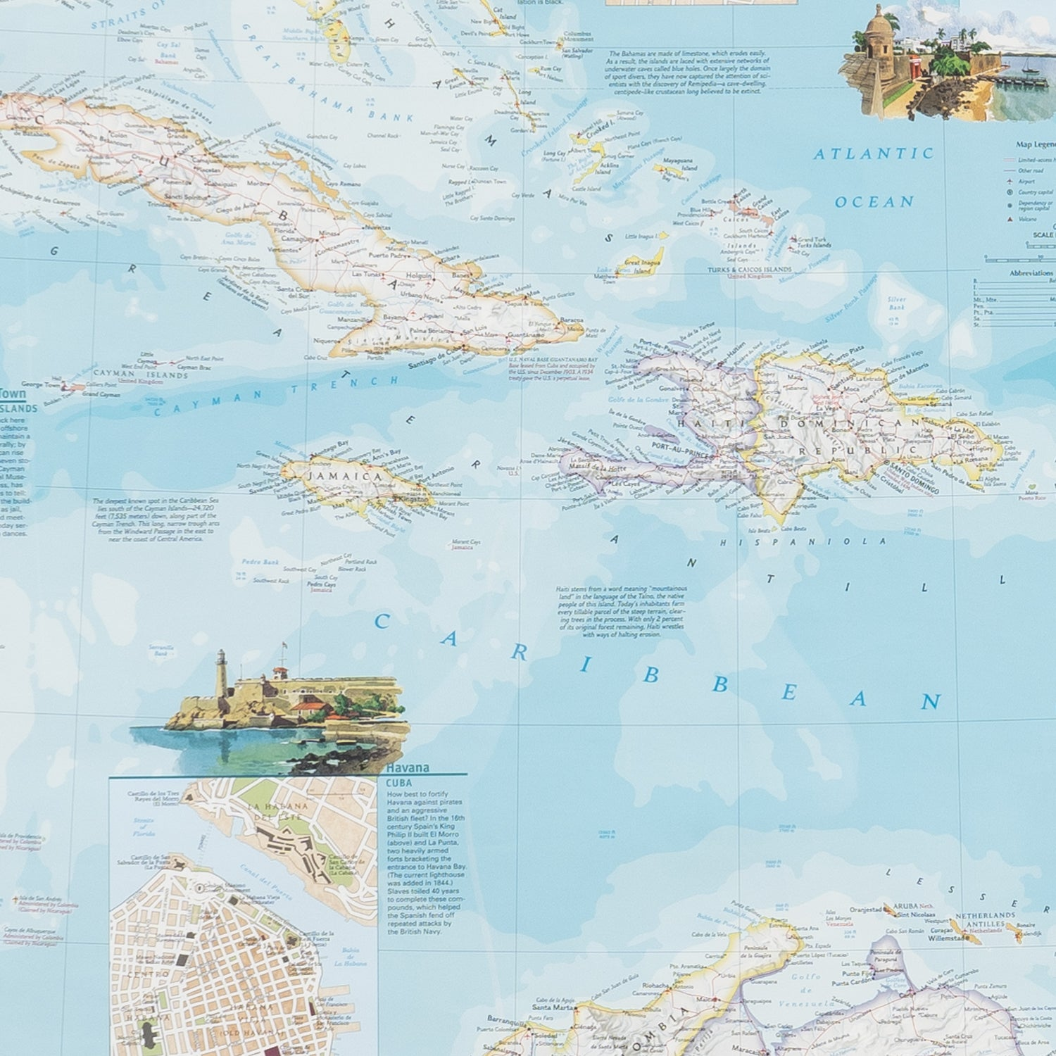 National Geographic Map of West Indies