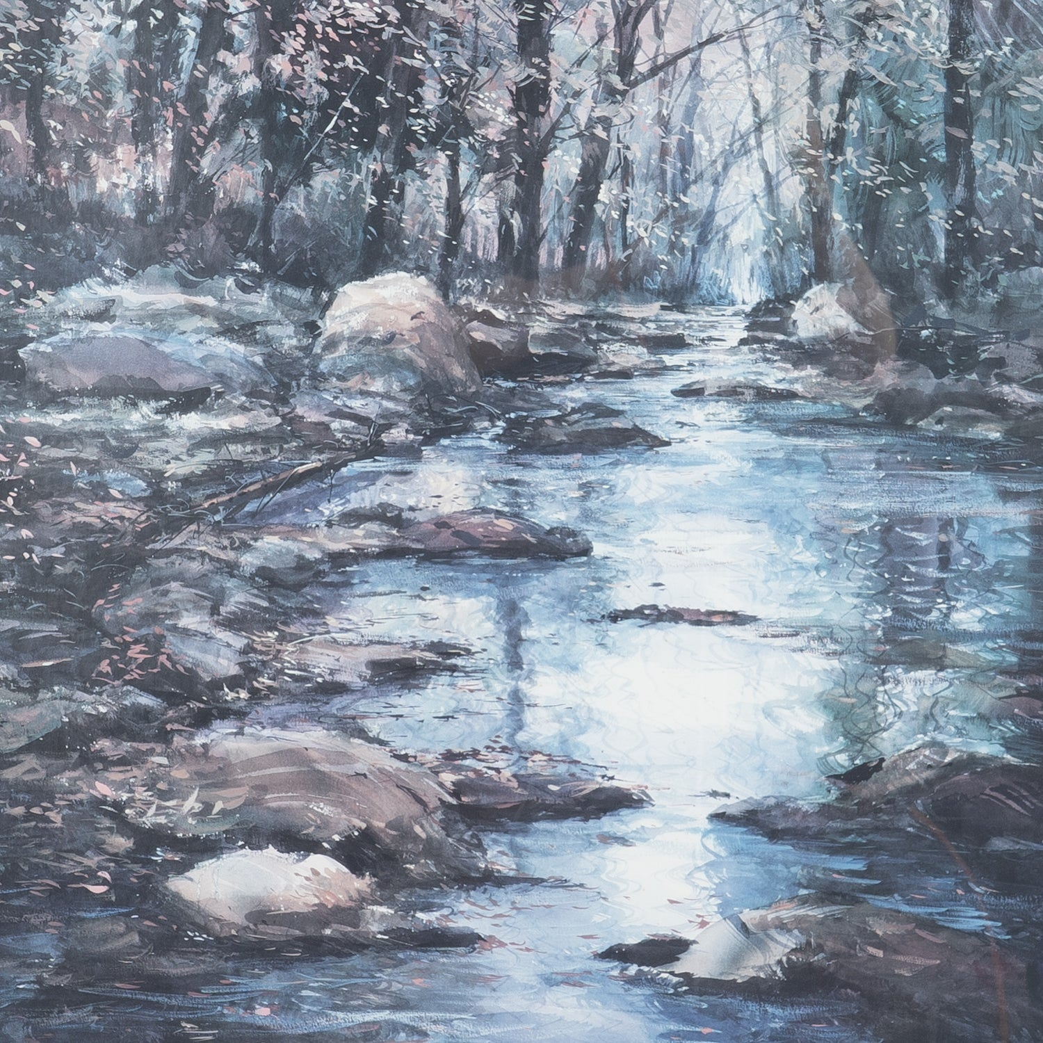 Print of Winter River Scene