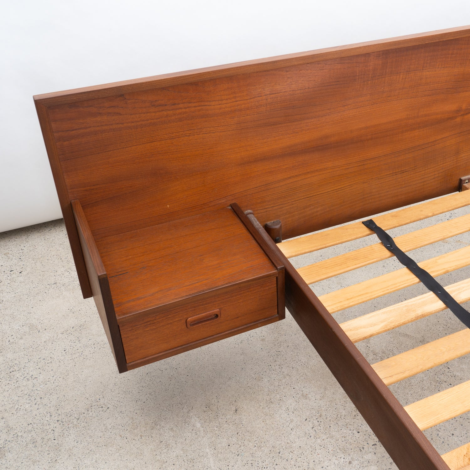Teak Queen Bed Frame with Night Tables