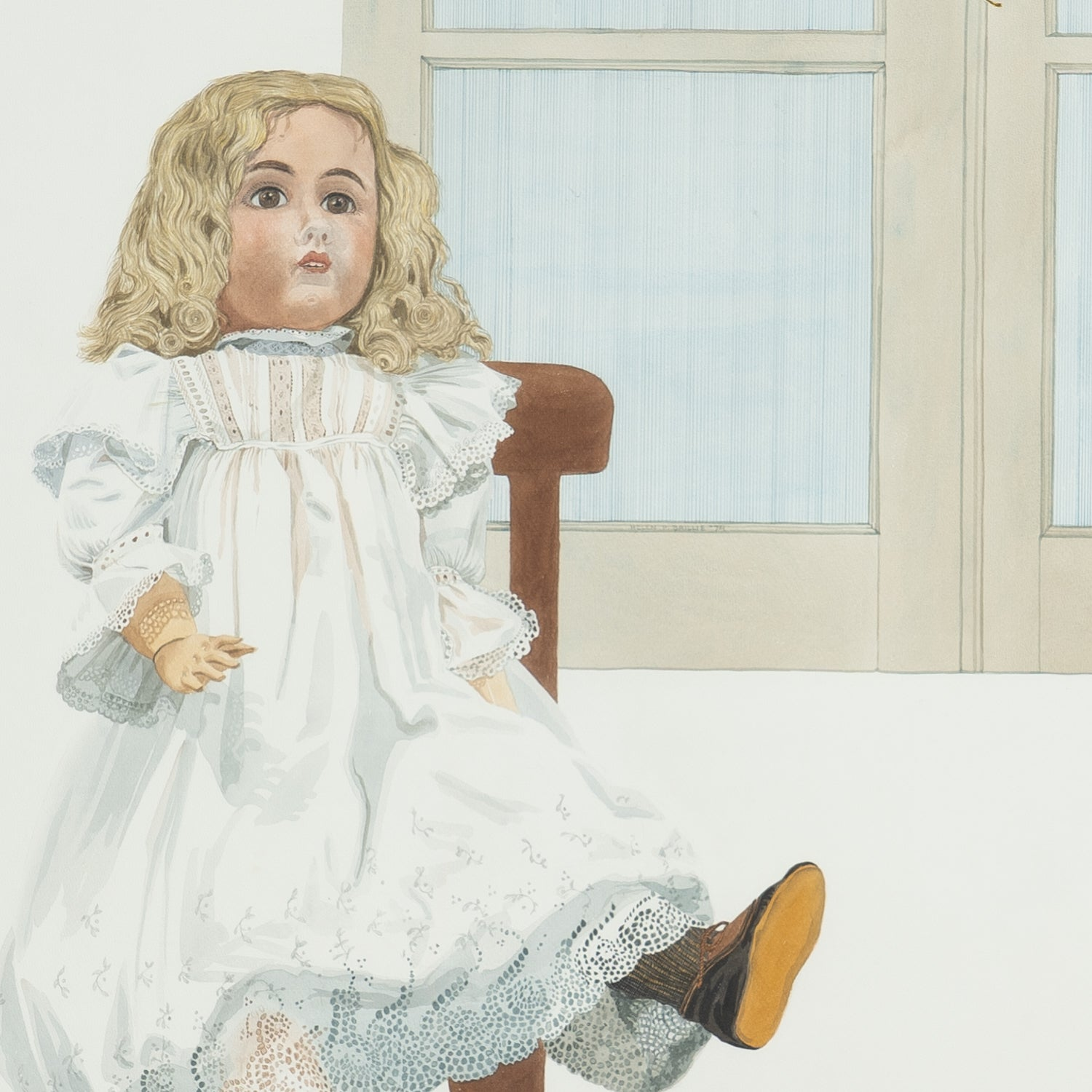 Water Colour of Doll by Helen P. Baillie '74