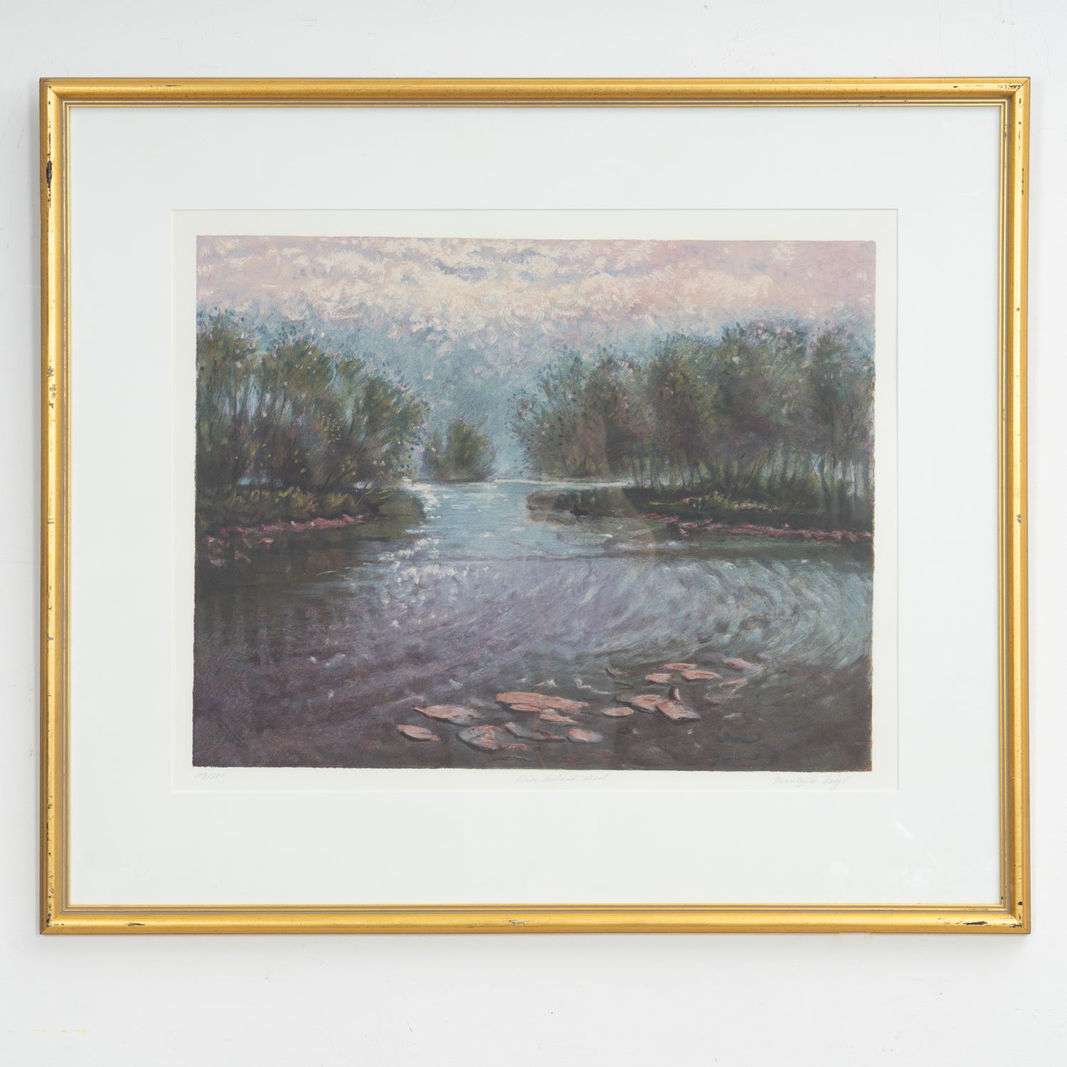 'River Island West' Serigraph by Marilyn Feigl '94
