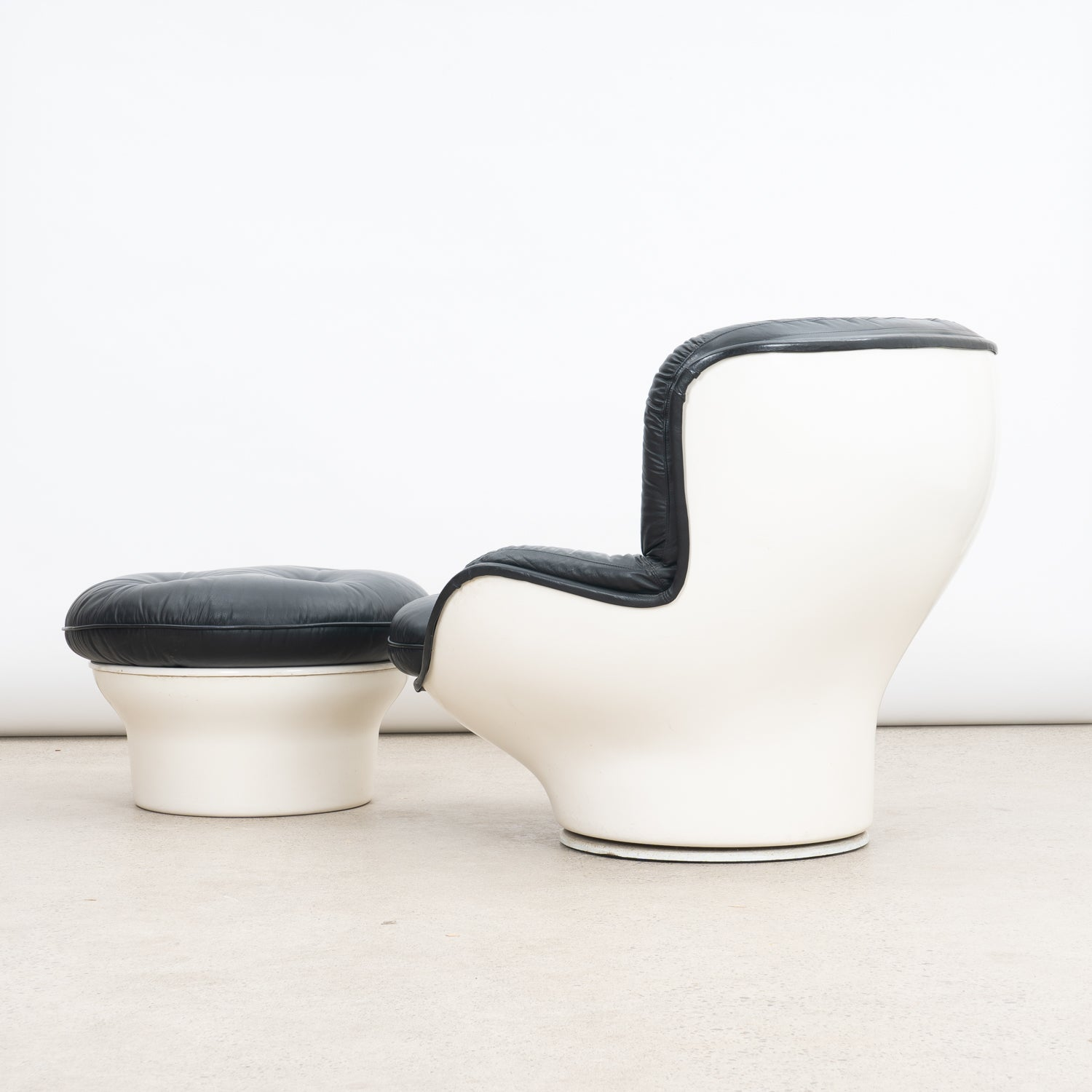 'Karate' Chair & Ottoman by Michel Cadestin