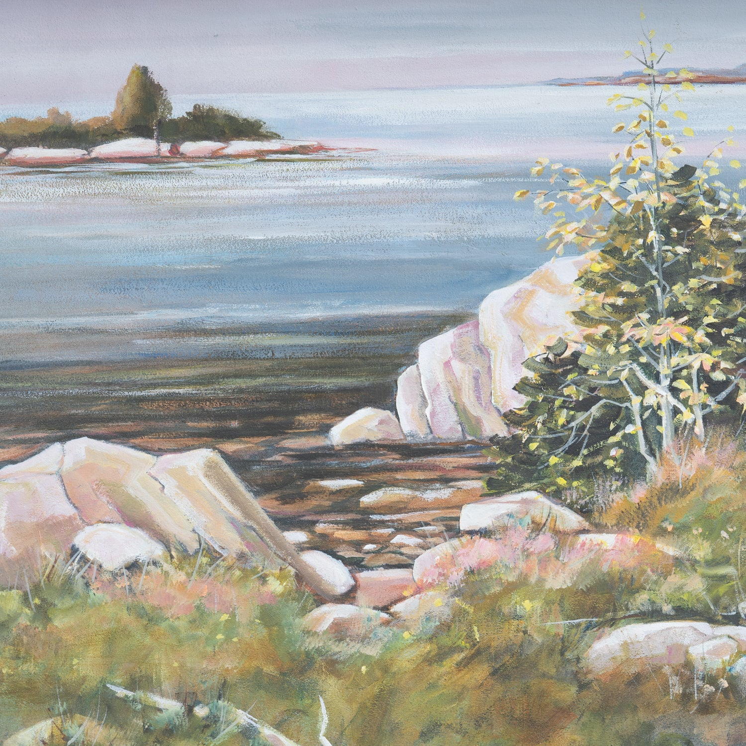 066 - 'Shallow Shoreline' Painting on Board by Durie