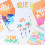 Tihara Smith's collection of Caribbean tropical greeting cards