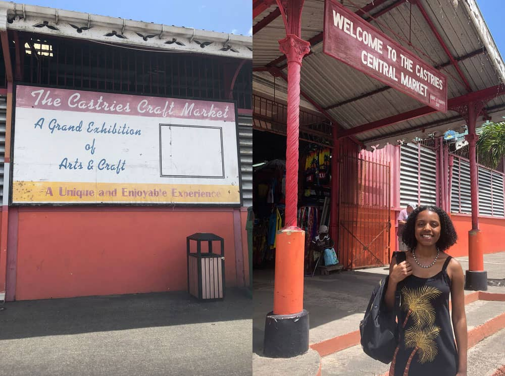 Photos of my recent visit to St Lucia, taken in front of Castries Central Market