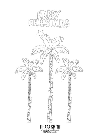 Preview of Christmas colouring page to download