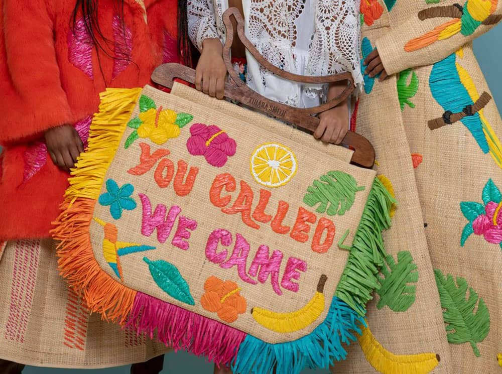 Tihara Smith - The Windrush Collection 'You Called, We Came' Raffia Bag
