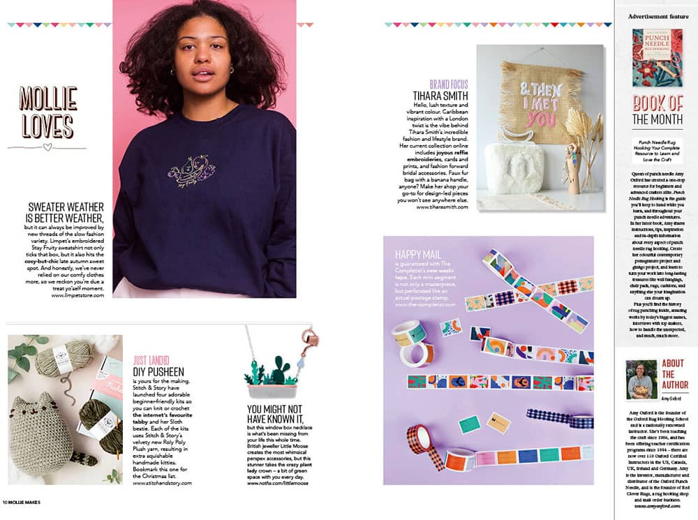 Mollie Makes Magazine with Tihara Smith article