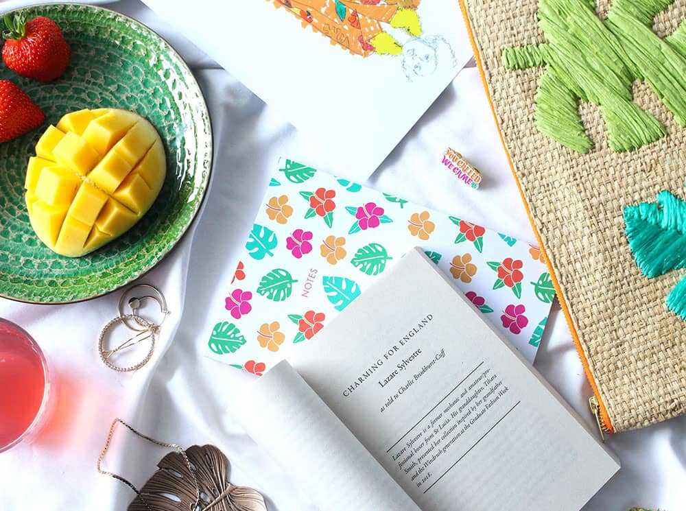 Tihara Smith notebooks and raffia pouch.