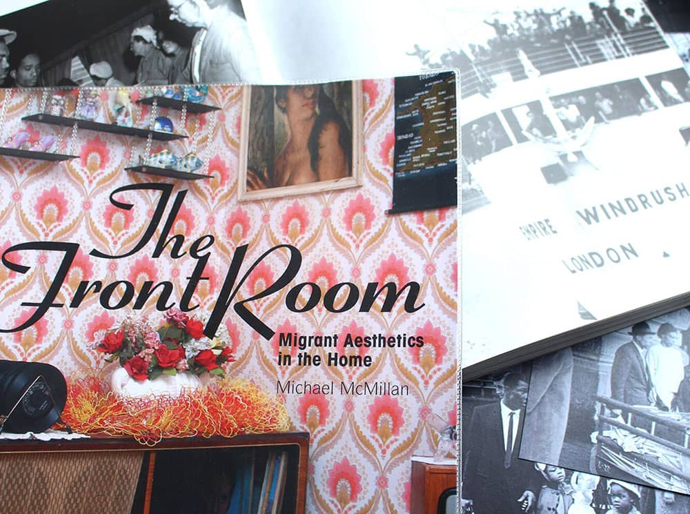 The front cover of  Michael McMillan's book, The Front Room: Migrant Aesthetics in the Home
