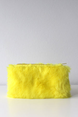 Mandeville Faux Fur Purse - Yellow - TiharaSmith