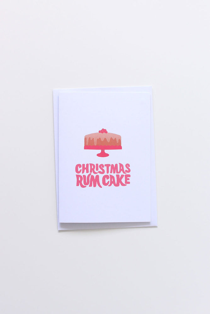 Christmas Rum Cake Card - TiharaSmith