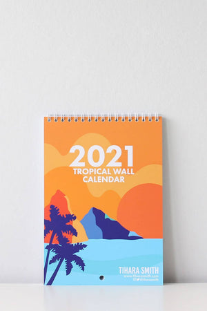 Load image into Gallery viewer, Tropical Wall Calendar 2021 - TiharaSmith