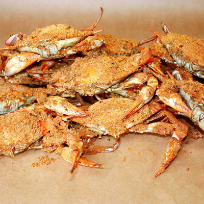 Large Female Steamed Crabs