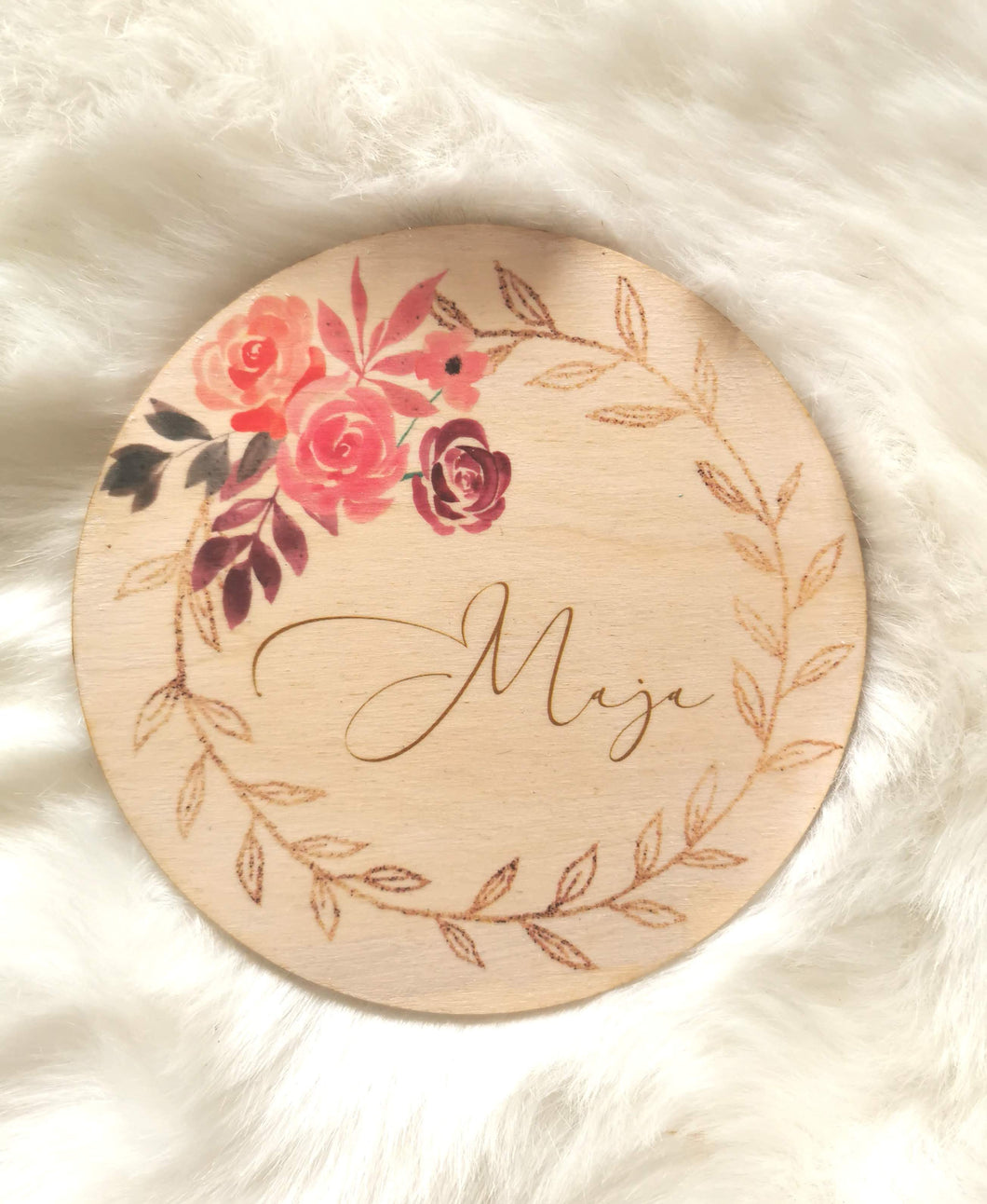 Circle plaque with name or quote - large