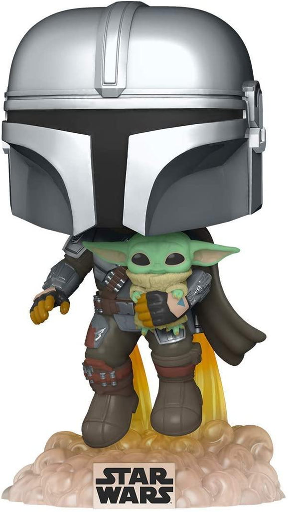 Funko 50959 POP Star Wars: The Mandalorian Mando Flying w/Jet Pack Collectible Toy, Multicolour