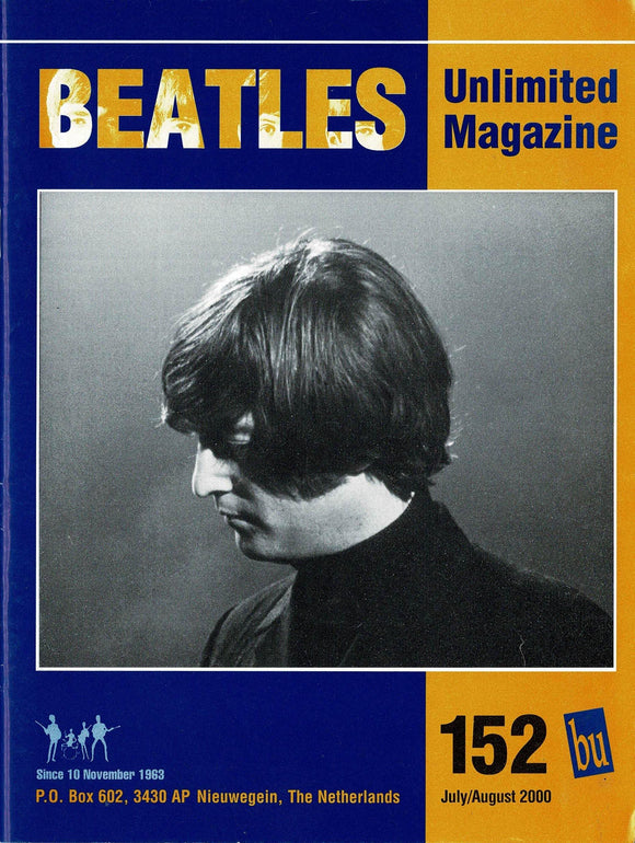 Beatles Unlimited Magazine - Issue Number 152 July/August 2000