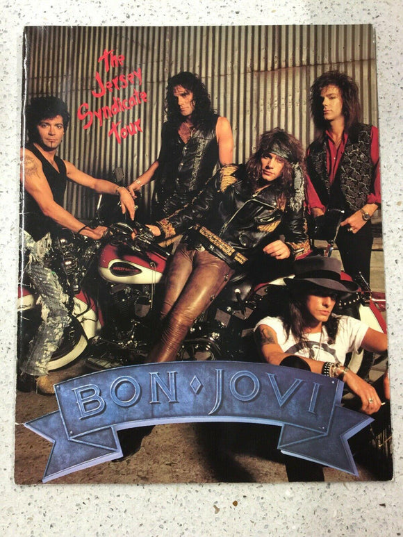 BON JOVI The Jersey Syndicate Tour Official 1988 tour Large programme Vintage