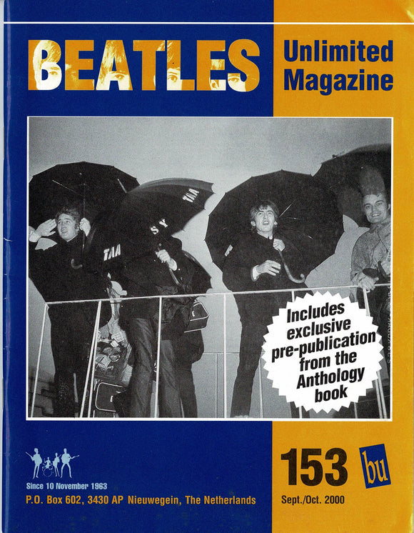 Beatles Unlimited Magazine - Issue Number 153 September/October 2000