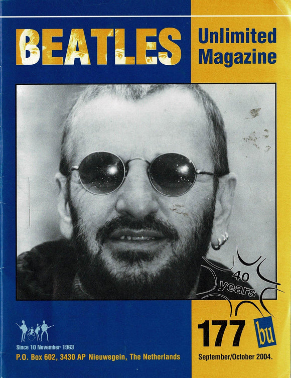 Beatles Unlimited Magazine - Issue Number 177 September/October 2004