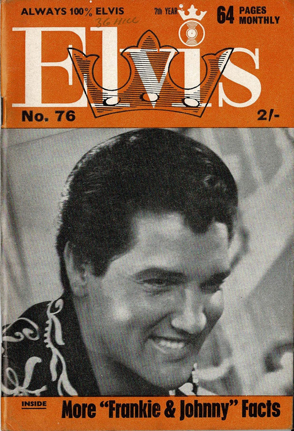 Elvis Monthly Fan Magazine: Seventh Year - May 1966 - Issue 76