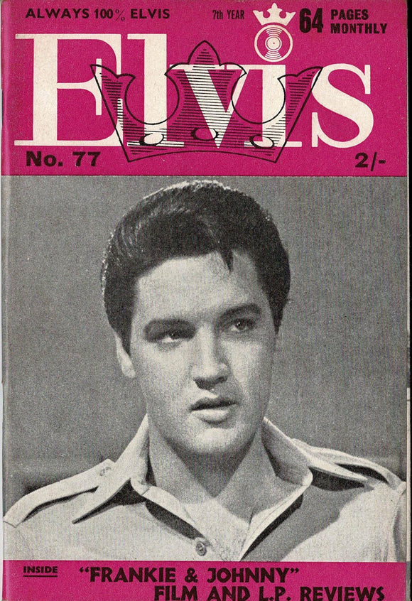 Elvis Monthly Fan Magazine: Seventh Year - June 1966 - Issue 77